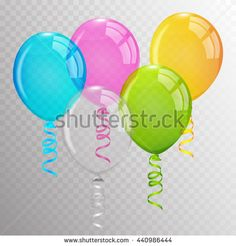 Transparent Balloons. - #balloons #vector