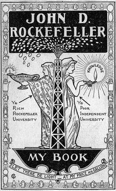 Ex libris del empresario e industrial estadounidense John Davison Rockefeller (1839-1937)