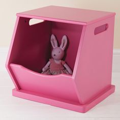 Single Stacking Storage Trunk - Raspberry Pink - All Toy Storage Ideas - Toy Storage