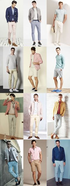 Men's Pastel Coloured Clothing Outfit Inspiration Lookbook