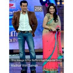 MADHURI DIXIT WITH SALMAN IN PINK SAREE