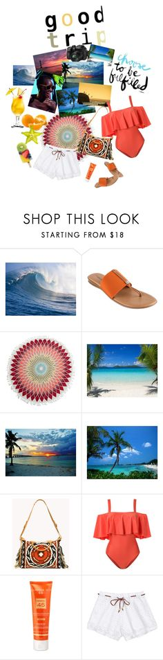 """""""Good Trip"""" by babygirltrice ❤ liked on Polyvore featuring André Assous, Billabong, Ella Moss, ADRIANA DEGREAS and Hampton Sun"""