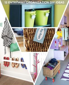 """Trend:12 Entryway Organization DIY Ideas I know we have """"Spring cleaning"""", but I also love a good Fall organization. There's a lot that happens this time of year: school starts, the weather is changing, and the big holidays are right around the corner. This makes it the perfect time to organize the important zones in [...]"""