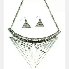 Tribal necklace & earrings set! Awesome necklace & earrings set from Inoj Boutique! Trendy and stylish. Inoj Boutique  Jewelry Earrings