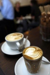 """""""The best coffee shops in London,"""" UK House & Garden (February Best Coffee In London, London Coffee Shop, London Cafe, Coffee Shop Bar, Best Coffee Shop, Coffee Cafe, Coffee Shops, Iced Coffee, Cafe Restaurant"""