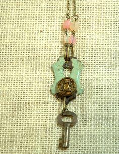 ON SALE handmade necklace repurposed vintage key by FindingBrooke, $21.60