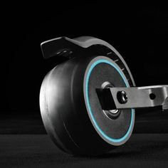 The eMicro One electric scooter rear tire is rather beautiful. It features a soft core wheel as well as an air-core tire to absorb all those bumps in the road while commuting to work.