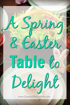 """A Fun Dip Fizz, an """"it doesn't get easier than this"""" veggie lasagna, a way too cute bunny napkin fold and you've got a Spring and Easter Tablescape that will Delight! [ad] #SpringitOn #NestleKitchen"""
