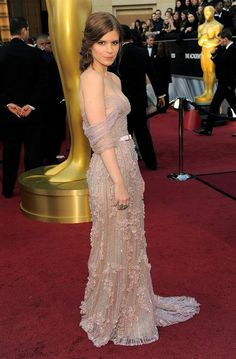 Kate Mara in Jack Guisso at the Oscars.