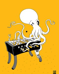 octopus TABLE FOOTBALL POSTERS