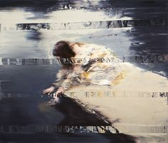 Andy Denzler, paintings of paused VHS tapes. Touch, 2012 — Oil on canvas, 120 x 140 cm Figure Drawing Practice, Visual And Performing Arts, Between Two Worlds, Portraits, Glitch Art, Contemporary Paintings, Installation Art, Collage Art, Oil On Canvas