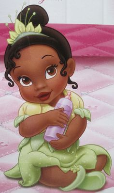 Baby Tiana - The Princess and the Frog.aww this is soo cute Disney Kunst, Arte Disney, Disney Magic, Disney Art, Tiana Disney, Disney Babys, Disney Girls, Disney Love, Princesa Tiana