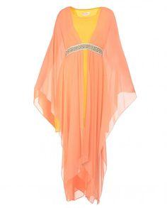 58a3838511be13 Peach and Poppy Yellow Drape Dress