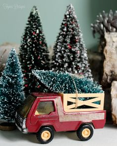 Vintage Christmas Tree truck - perfect for the girls little bunny house