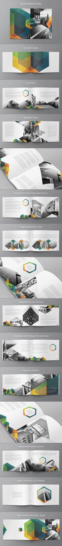 Real Estate Hexo Brochure. Download here: http://graphicriver.net/item/modern-real-estate-hexo-brochure/ #design #brochure