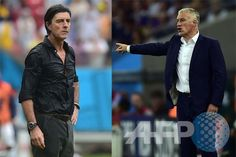 Respective Coach Joachim Loew & Didier Deschamp #GER vs #FRA Who will be able to take their team to semis ?