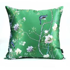 Flower Bird throw pillow for home decoration cushions 18 in