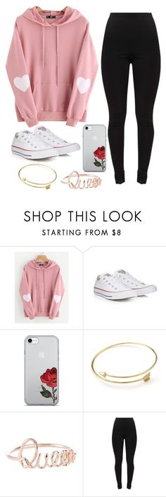 """Pick up"" by torilee-03 ❤ liked on Polyvore featuring WithChic and Converse"