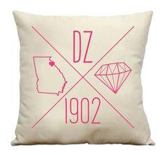 Personalized Delta Zeta Icons Cotton Canvas Sorority by Sororitee