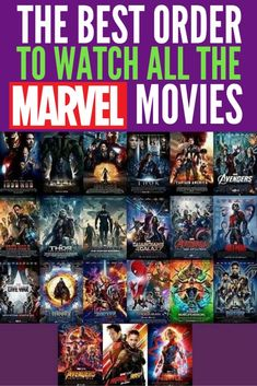 The Best Order to Watch All the Marvel Movies, especially before Avengers: Endgame. Here are Marvel movie lists of how to watch Marvel movies in chronological order, by release date, and a short list when you don't have much time to get caught up. Marvel Watch Order, Avengers Movies In Order, Marvel Movies List, Films Marvel, Marvel Avengers Movies, Comic Movies, Marvel Marvel, Mcu Movies In Order, First Marvel Movie