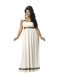 Halloween Plus Size Womens Olympic Goddess Costume