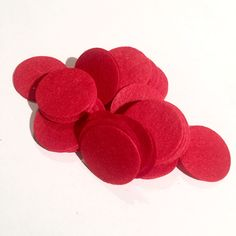 """1.5"""" red felt circles / 25-50 pieces"""