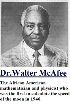 Walter S. McAfee is the African American...