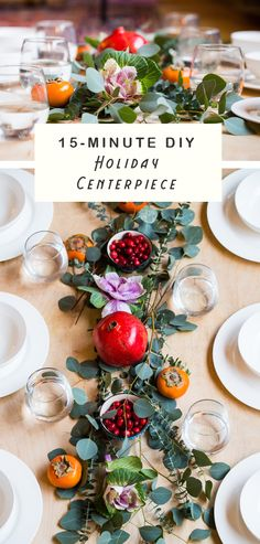 15-Minute DIY Centerpiece for the Holidays. Easy and impressive!