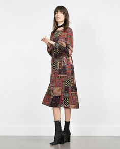 Pin for Later: 18 Halloween Costumes That Are Really Just an Excuse to Shop at Zara Hippie The look: Patchwork Dress ($70) Pair it with: Colored round glasses, a headband, and tall boots