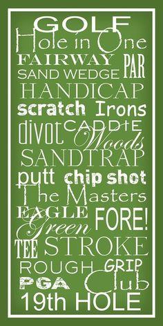 Primera lección de Golf: familiarizarse con las siguientes palabras...