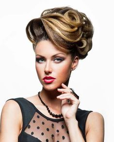 Best Hairstyle For Medium Length Hair Beehive Hairstyles, Retro Hairstyles, Elegant Hairstyles, Formal Hairstyles, Girl Hairstyles, Wedding Hairstyles, Blonde Updo, Retro Updo, Ballroom Hair