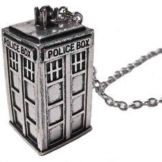 Colgante cabina Tardis. Doctor Who Espectacular y original colgante para los fans de la serie británica Doctor Who.