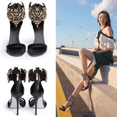 2017 Fashionable Women Pumps sandals styles Fine with high heels genuine leather rhinestone sandals banquet wedding shoes