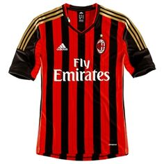 726add9fea13a Adidas AC Milan Home 2013-2014 Replica Soccer Jersey (Red Black)