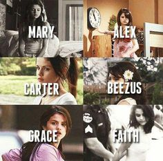 Mary: Another Cinderella story Alex: Wizards Carter: Princess Protection Bee: Romona & Beezus Grace: Monti Carlo Faith: Spring Breakers ^-^