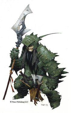 Staunton Vhane - Dwarvern Cleric. From Pathfinder Adventure Path. #Ilustracion de Wayne Reynolds
