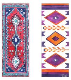 Magic Carpet yoga mats These are beautiful! Could enhance my practice!