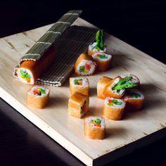 Salmon sushi roll | Mibonasa Asian dining