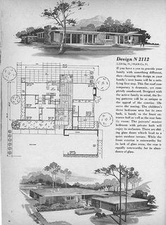 Home Planners Design N2112 by MidCentArc, via Flickr