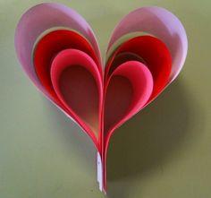 Corazón de Papel en 3D - Tutorial -