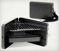 Suddenly an afternoon at the office doesn't seem so darn bad! Darwin Triangular Briefcase BBQ