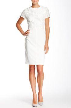 Sara Emanuel Lace Bodice Dress