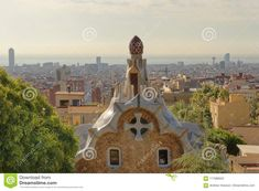 Park Guell Garden In Barcelona, Spain. Editorial Photography - Image of europa, catalan: 117088552