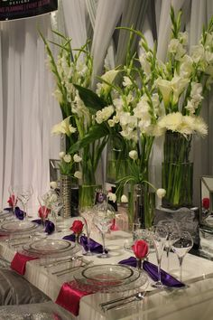 www.paigebrowndesigns.com, elegant wedding, purple wedding, purple and fushia wedding reception, elegant tablescape