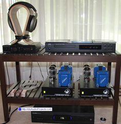 Monoblock Tube Amps with NAD and Cambridge Audio DacMagic Plus Cambridge Audio, Tube, Shelf, Kit, Audio, Shelving