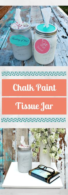 Chalk Paint Tissue Jar/ Easy to make, tissue jar that can be given as a gift to uplift another. Be sure to make a few for yourself as well!/ thekusilife.com