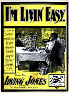 WONDERFUL A4 GLOSSY PRINT - 'I'M LIVIN' EASY' (A4 PRINTS - VINTAGE SHEET MUSIC / SONG BOOK COVERS) by Unknown http://www.amazon.co.uk/dp/B004IVK7EG/ref=cm_sw_r_pi_dp_bs3ovb0AZF502