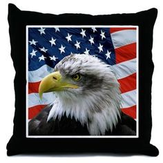 CafePress - Patriotic American Flag Bald Eagle - Throw Pillow, Decorative Accent Pillow >>> Learn more by visiting the image link. (This is an affiliate link) #DIYHomeDecor