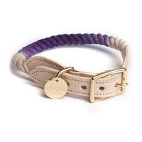 Purple Fade Rope Dog Collar