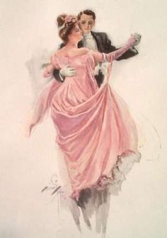 The Waltz - By Harrison Fisher - whatever happened to ballroom dancing?